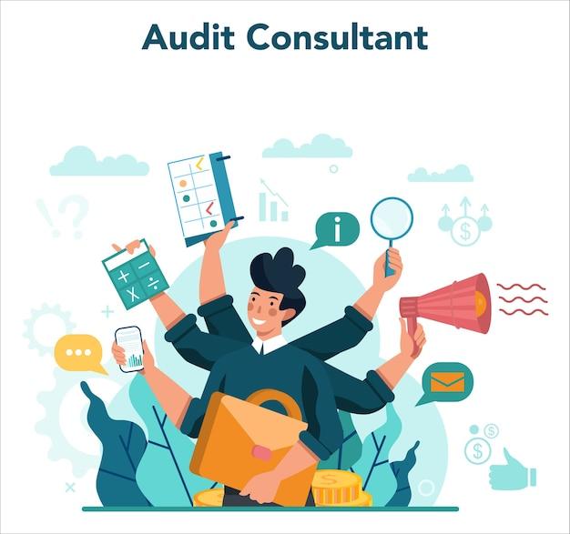 Audit concept. onderzoek en analyse van bedrijfsvoering.