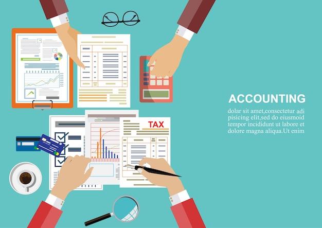 Auditeur onderzoek van financieel verslag.