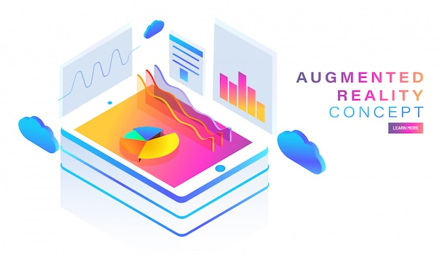 Augmented reality (ar) -concept.