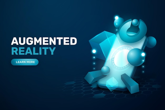 Augmented reality concept behang