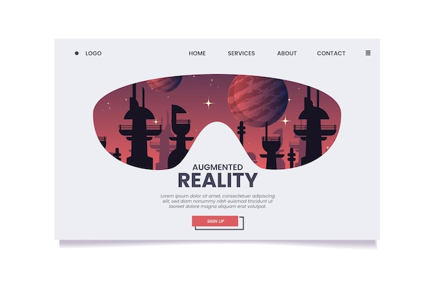 Augmented reality-concept - bestemmingspagina