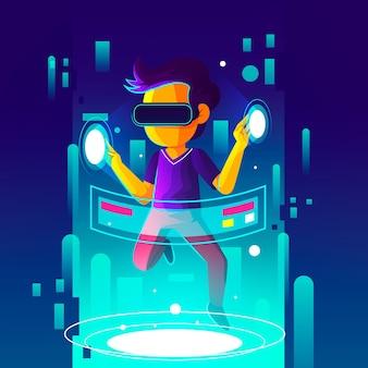 Augmented reality concept illustratie