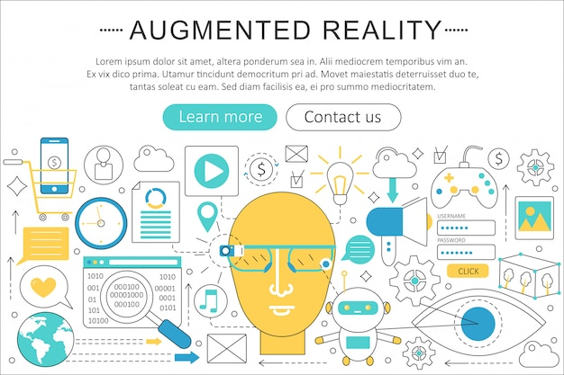 Augmented reality technologie concept