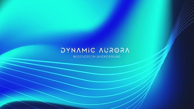 Aurora abstracte achtergrond