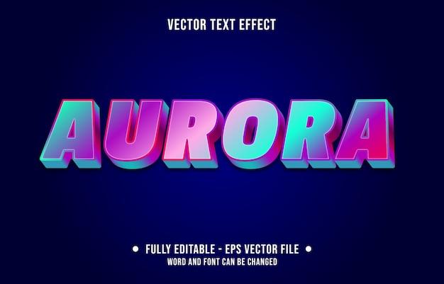 Aurora bewerkbaar teksteffect moderne verloopstijl