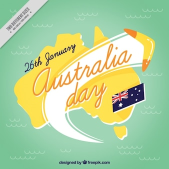 Australië dag achtergrond met boomerang