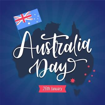 Australië dag belettering