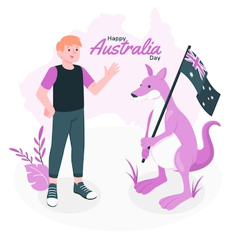 Australië dag concept illustratie