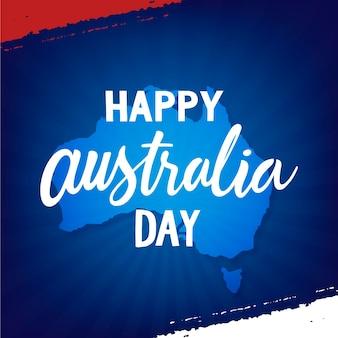 Australië dag evenement belettering
