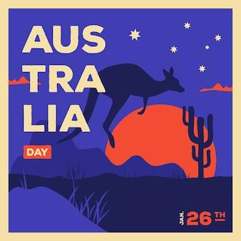 Australië dag in plat ontwerp