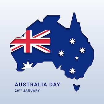 Australië dag met nationale kaart