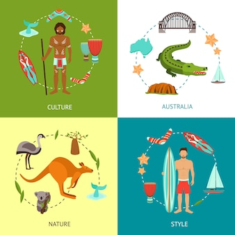 Australië ontwerpconcept