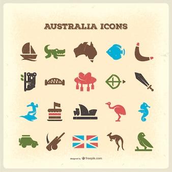 Australië vintage pictogrammen