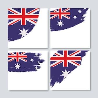 Australische vlag in penseelstreken