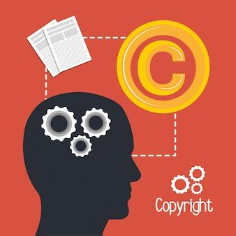 Auteursrecht symbool ontwerp