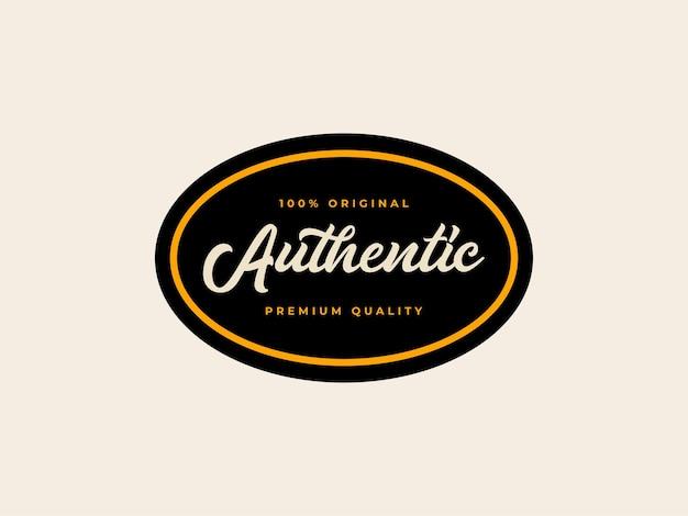 Authentiek badge label ontwerpconcept