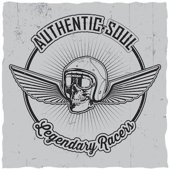 Authentiek soul legendary racers-label
