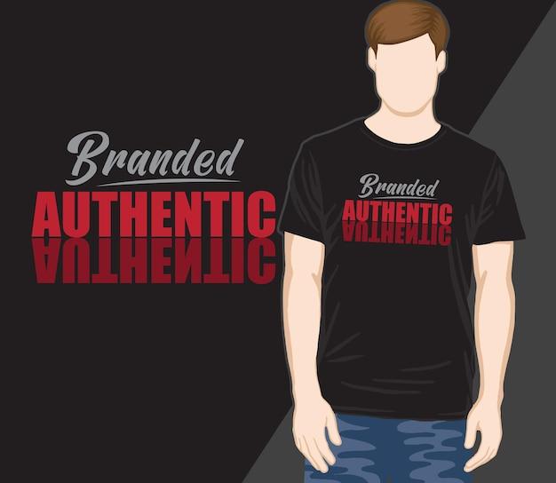 Authentiek typografisch t-shirtontwerp met merknaam