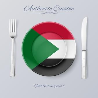 Authentieke keuken illustratie