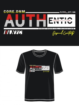 Authentieke typografie voor print t-shirt
