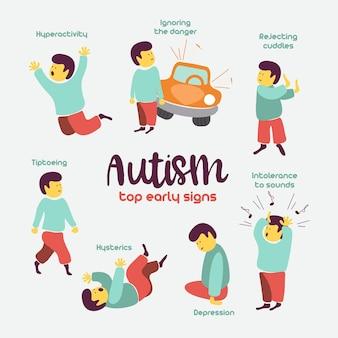 Autisme vroege tekenen van autismesyndroom bij kinderen kinderen autismespectrumstoornis asd icon