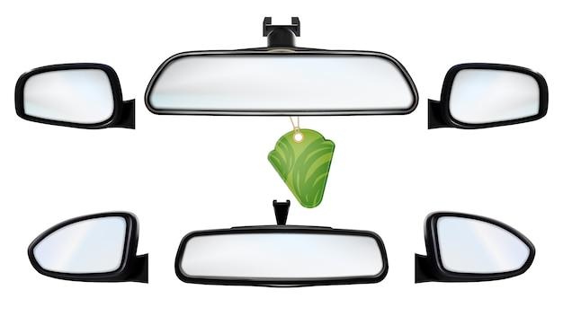 Auto achteruitkijkspiegels met luchtverfrisserset