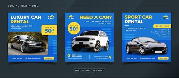 Auto autoverhuur sociale media instagram postsjabloon