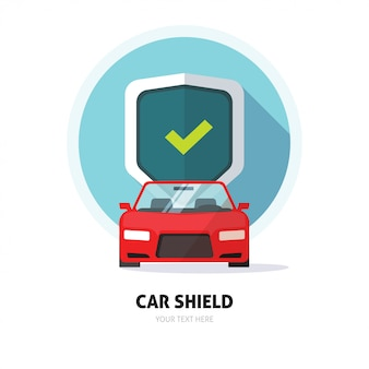 Auto bewaker of bescherming schild teken