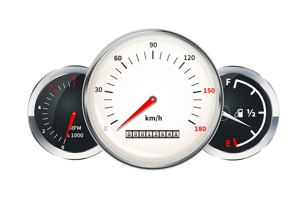 Auto dashboard elementen