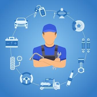 Auto diensten concept
