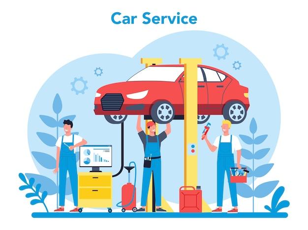 Auto dienstverleningsconcept