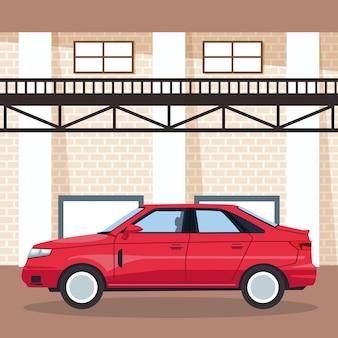Auto garage winkel