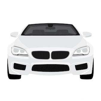 Auto illustratie geïsoleerd op een witte achtergrond volledige bewerkbare indeling