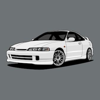 Auto illustratie voor conceptueel ontwerp