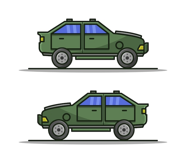 Auto in cartoon