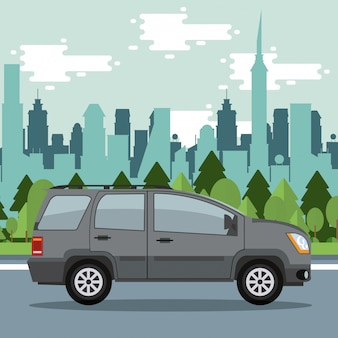 Auto in de stad