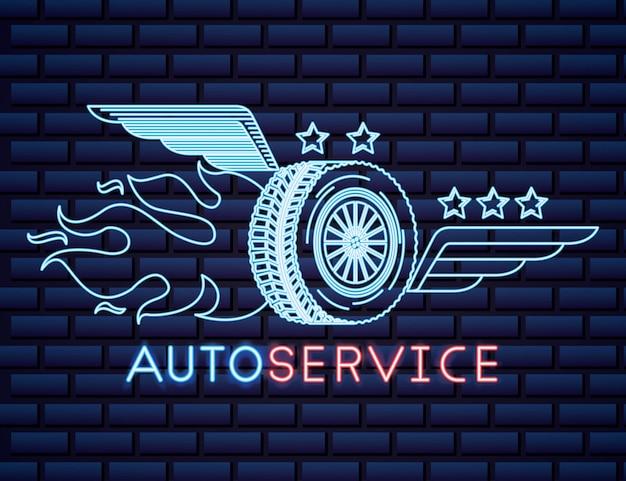 Auto-industrie neonreclame