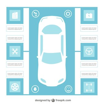 Auto infographic template