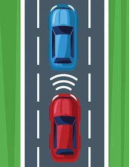 Auto locatie gps-systeem