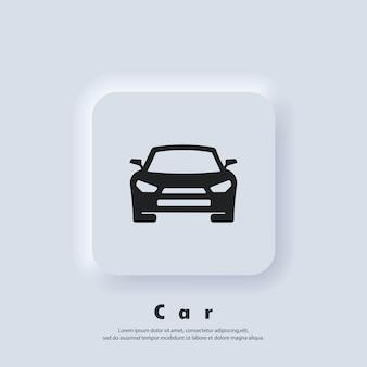 Auto-logo. auto logo. auto pictogram. machinepictogrammen. vector. ui-pictogram. neumorphic ui ux witte gebruikersinterface webknop. neumorfisme