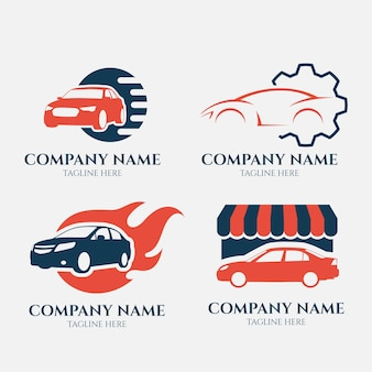 Auto logo collectie in vlakke stijl