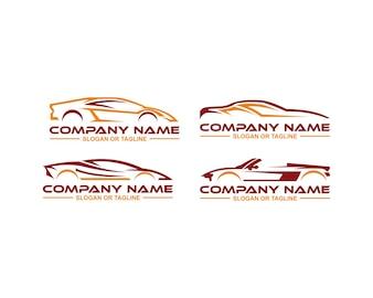 Auto-logo in zuivere en eenvoudige grafische lijn ontworpen