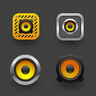 Auto luidspreker pictogram