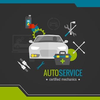 Auto mechanic platte pictogram