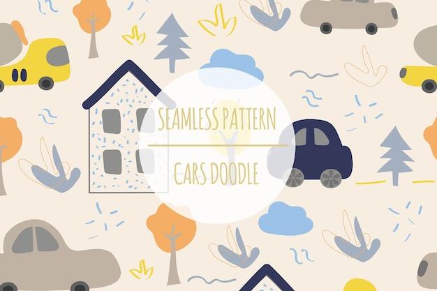 Auto naadloze patroon