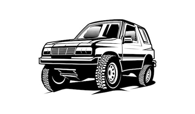 Auto offroad silhouet