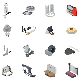 Auto-onderdeel icon set