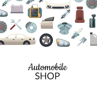 Auto-onderdelen achtergrond