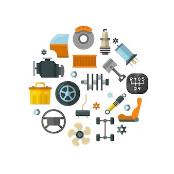 Auto-onderdelen auto reparatieservice