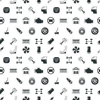 Auto-onderdelen vector naadloze patroon